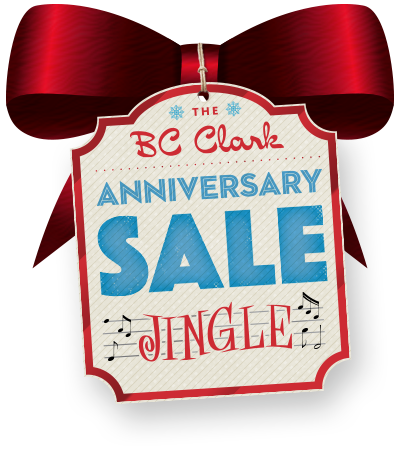 The BC Clark Anniversary Sale Jingle